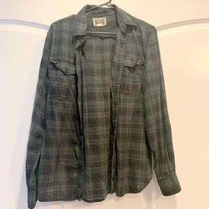 Converse plaid 90's flannel button down